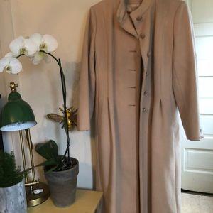 Long Vintage Wool Coat
